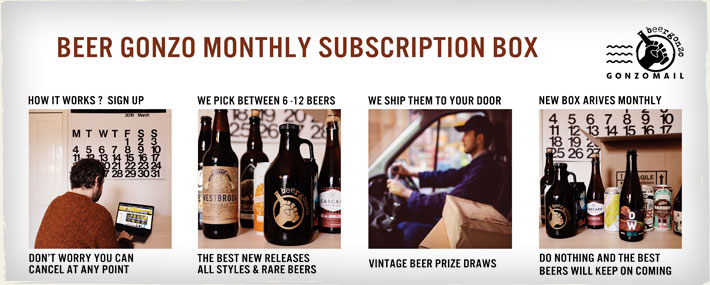 Beer Gonzo Monthly Subscription Box